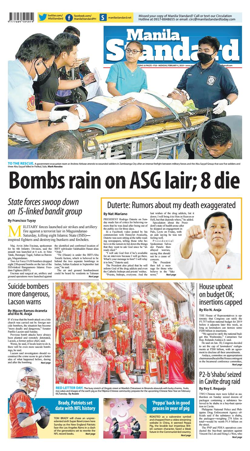 Manila Standard - 2019 February 4 - Monday by Manila Standard - issuu