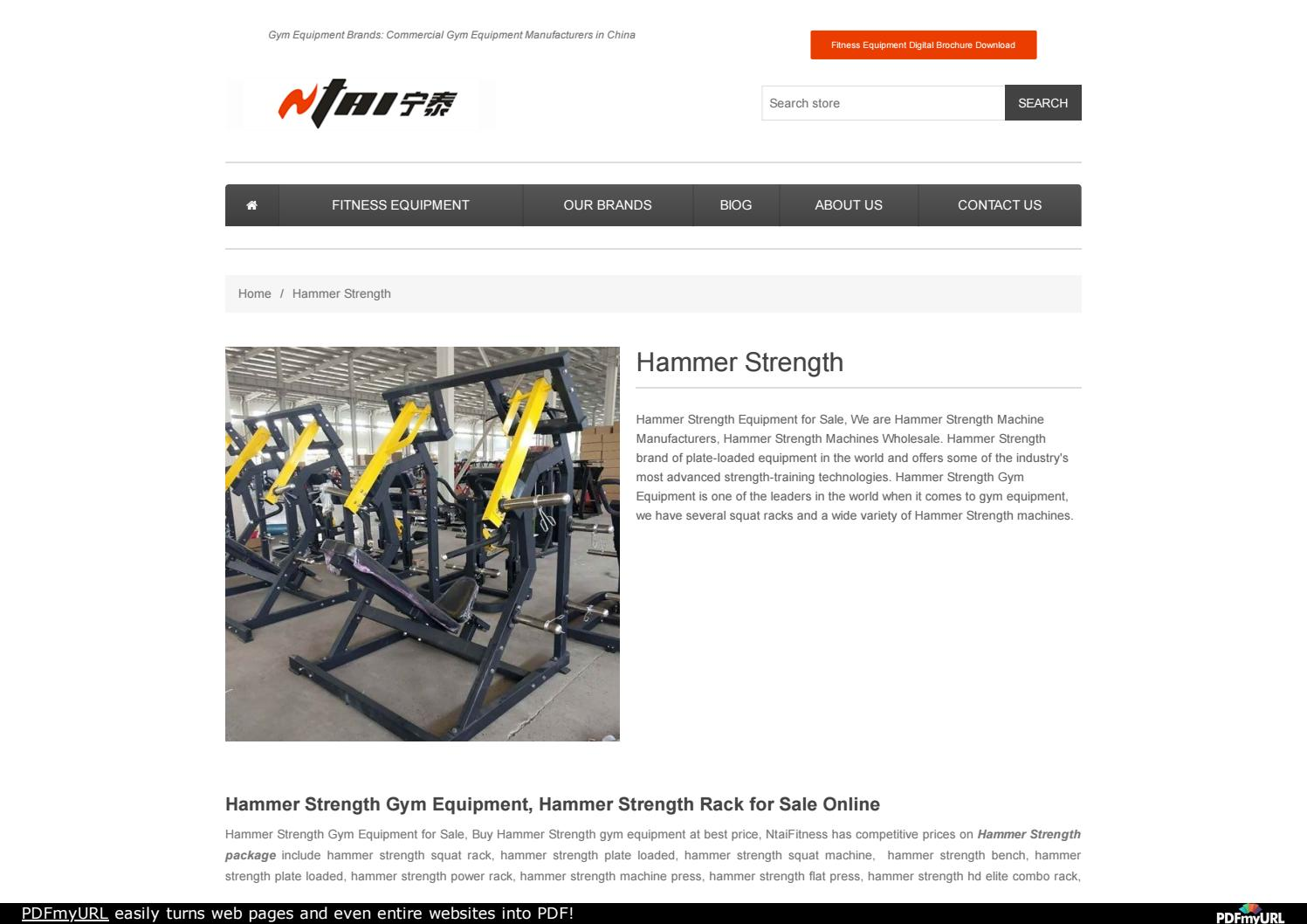 be5a25406d Buy Hammer Strength Gym Equipment by China Fitness Equipment NtaiFitness -  issuu