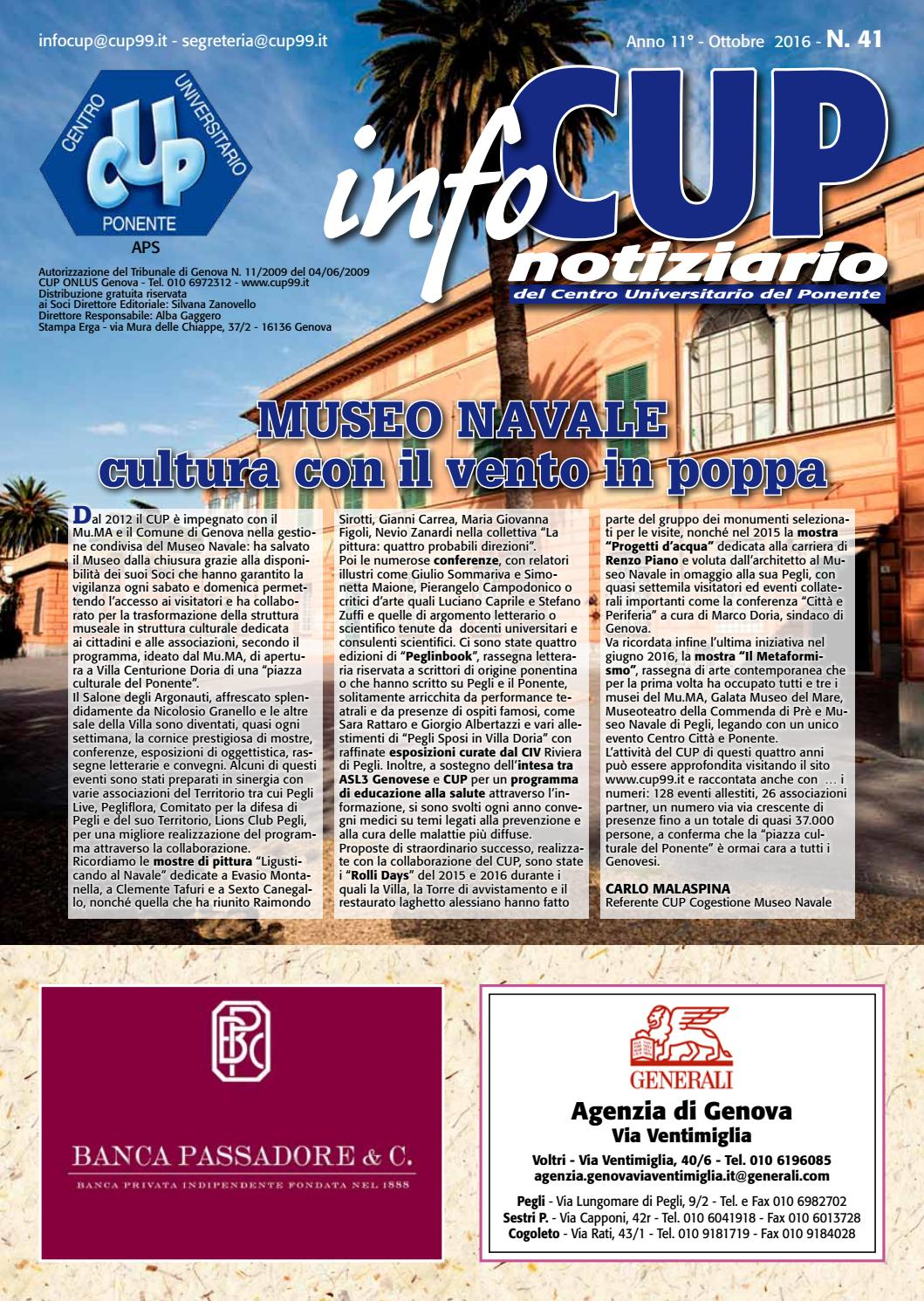 La Vena Artistica Genova infocup - ottobre 2016 by centro universitario - issuu