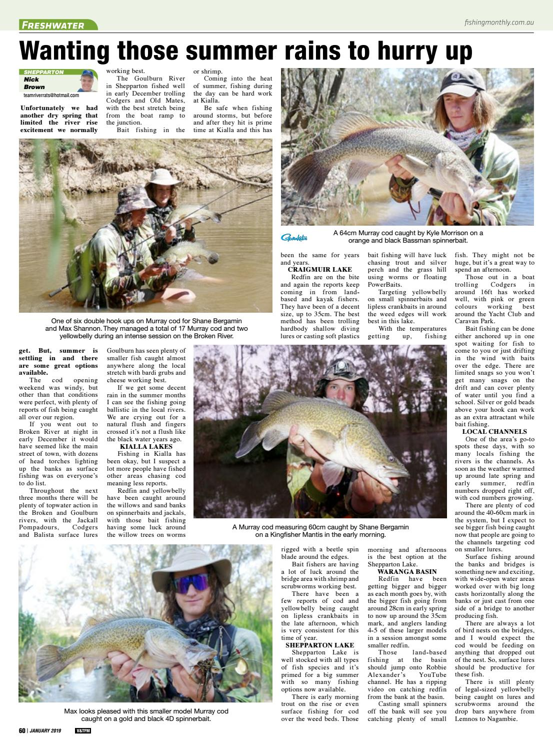 Victoria and Tasmania Fishing Monthly January 2019 by
