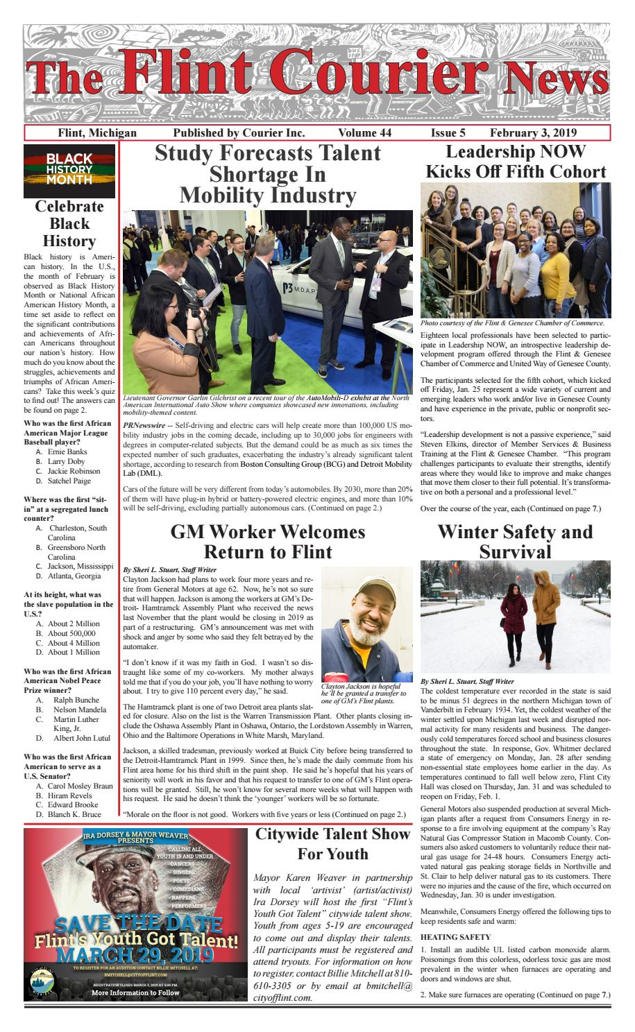 The Flint Courier, Feb  3, 2019 by The Flint Courier - issuu