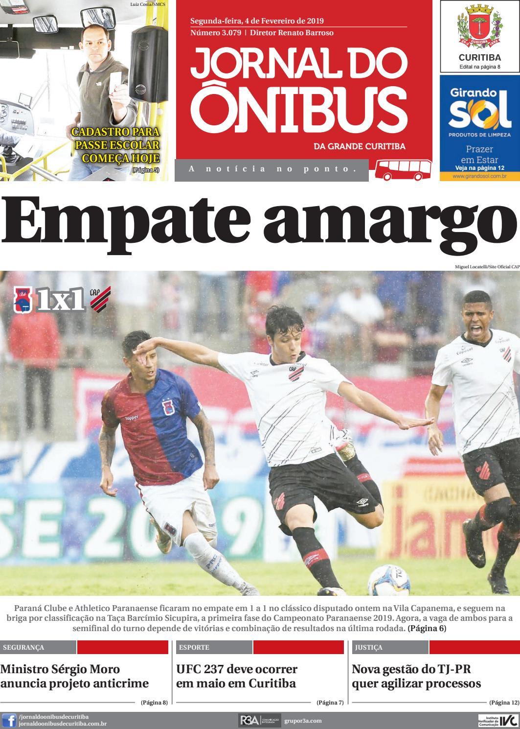 0987d210a Jornal do Ônibus de Curitiba - 04 02 19 by Editora Correio Paranaense -  issuu