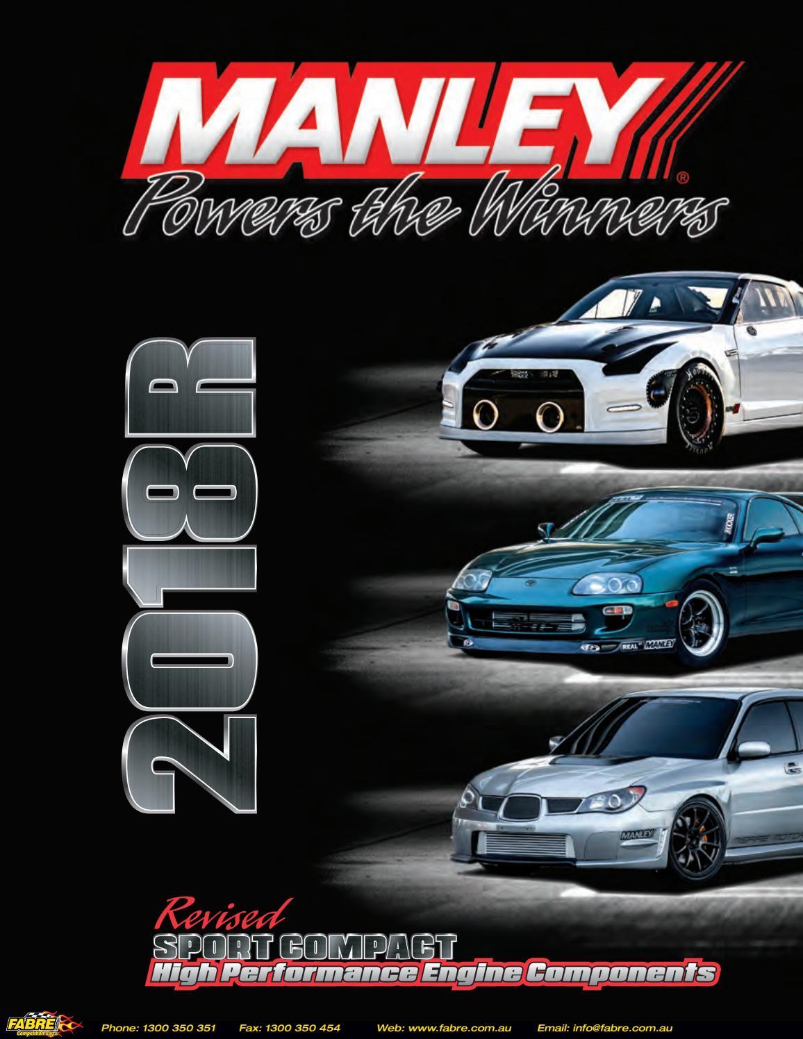 Manley Piston Fits Subaru Impreza WRX EJ20 EJ205 93mm 8.5:1 **Single**