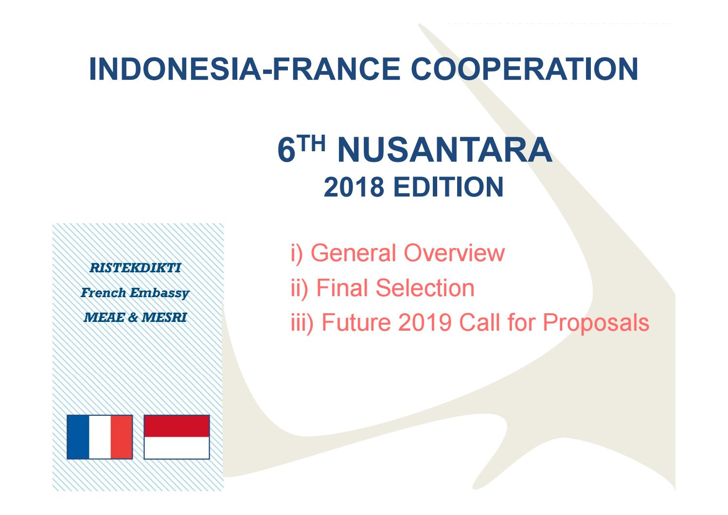 Call For Proposal 2019 Indonesia
