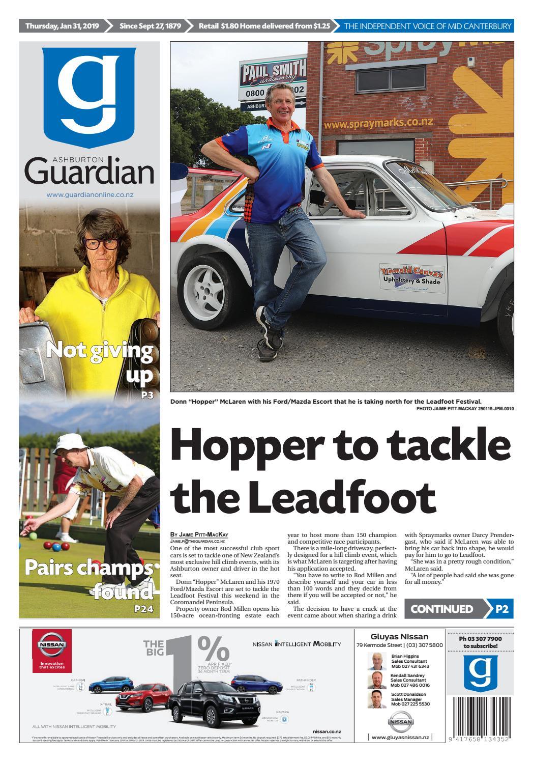 Ashburton Guardian, Thursday, January 31, ...