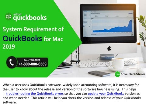 System Requirement of QuickBooks for Mac 2019 and Older