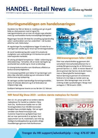 5164e44c HANDEL - Retail News NYHETSBREV for faghandel, dagligvarehandel, grossister  og agenter i Norsk varehandel.