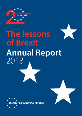 The lessons of Brexit: Annual report 2018 by Centre for