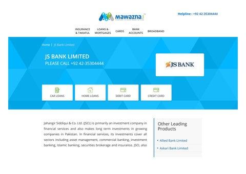 JS Bank by Mawazna - issuu