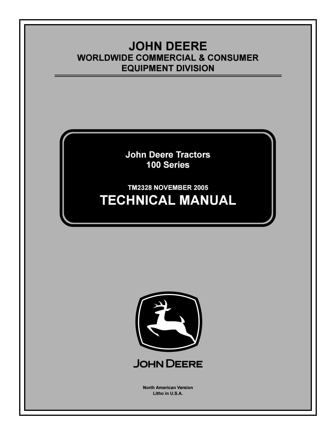 JOHN DEERE 155C LAWN GARDEN TRACTOR Service Repair Manual by 163114103 -  issuuIssuu