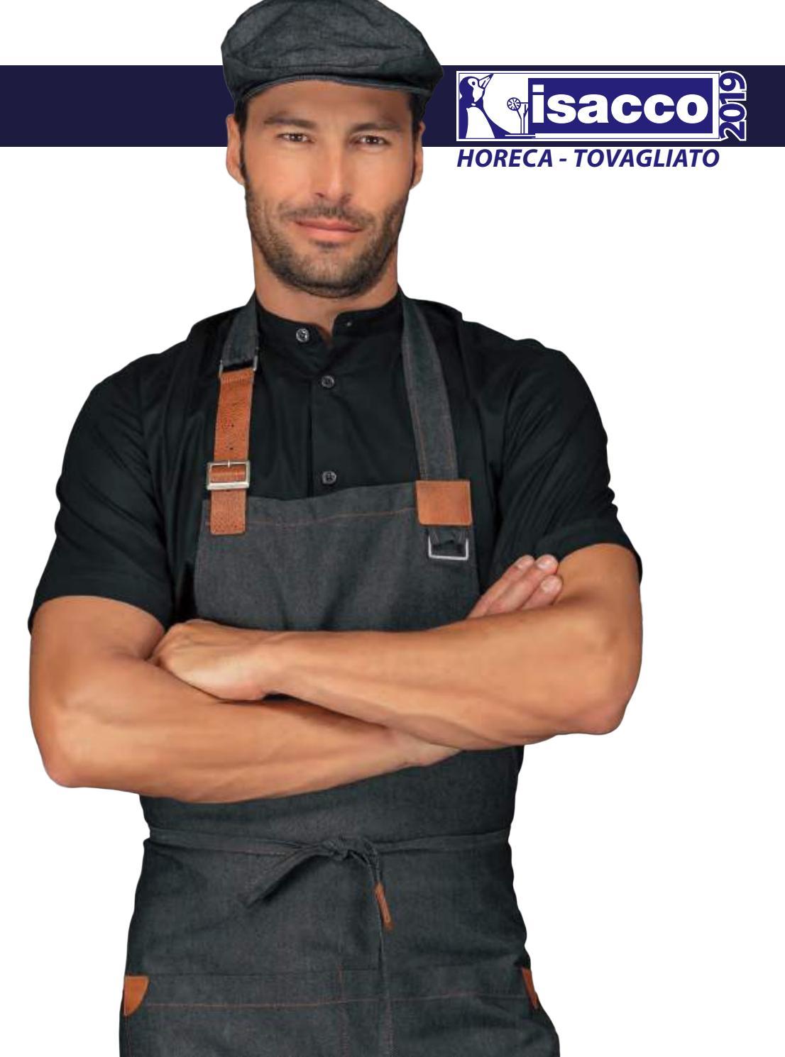 210 gr//m/² 97/% Cotone 3/% Spandex Manica Lunga Isacco Giacca Lady Chef Bianco S Bianco