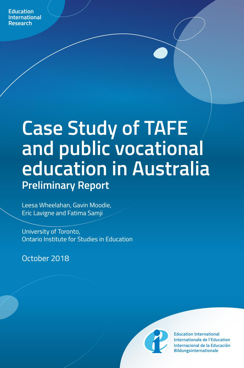 Tafe And Public Vocational Education In Australia By Education International Issuu