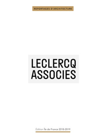 Leclercq Associes By Bati Architecture Issuu