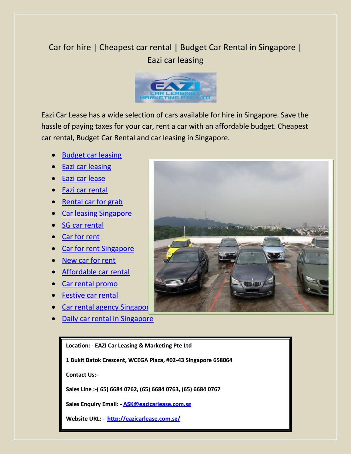 Cheapest Cars To Lease >> Budget Car Leasing By Murrey Terry Issuu