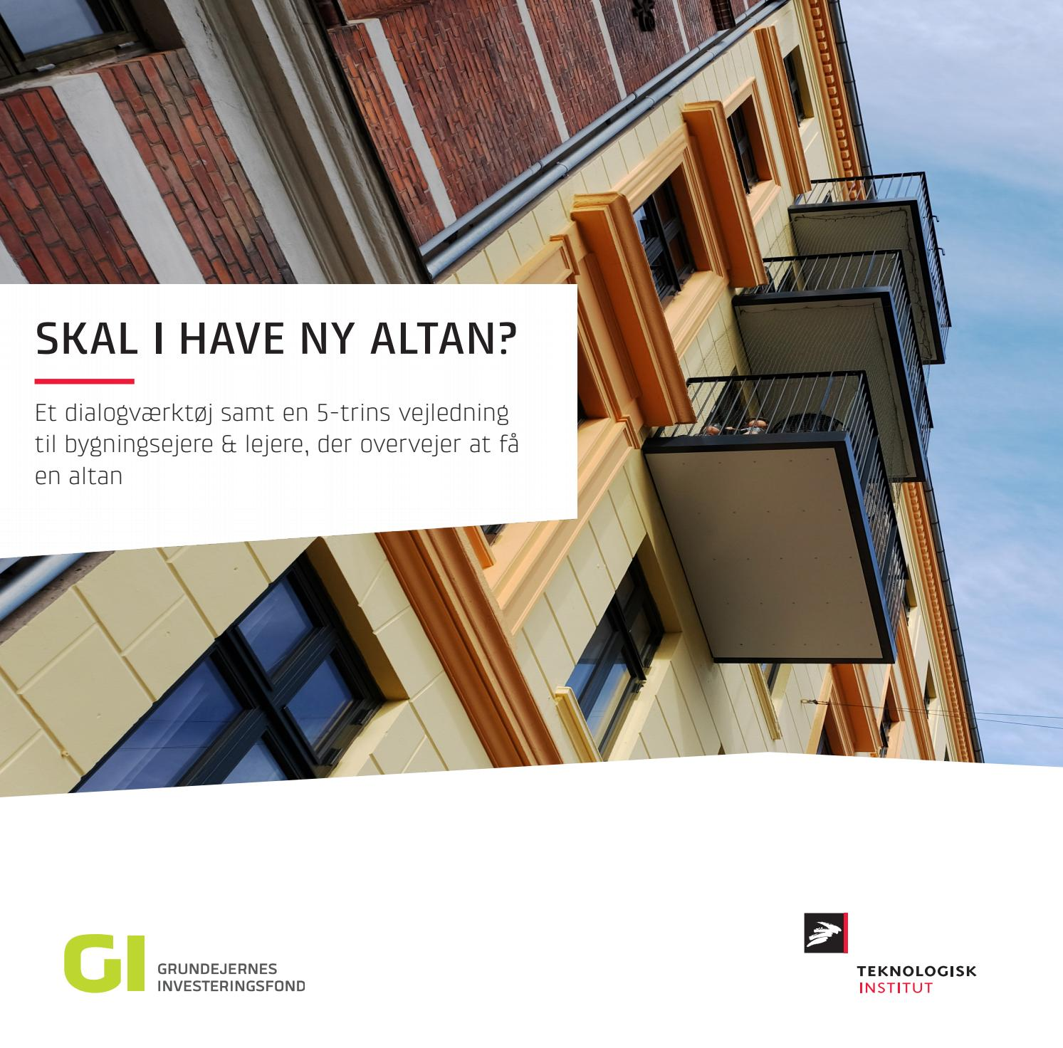 Picture of: Skal I Have Ny Altan By Byggeri Anlaeg Pa Teknologisk Institut Issuu