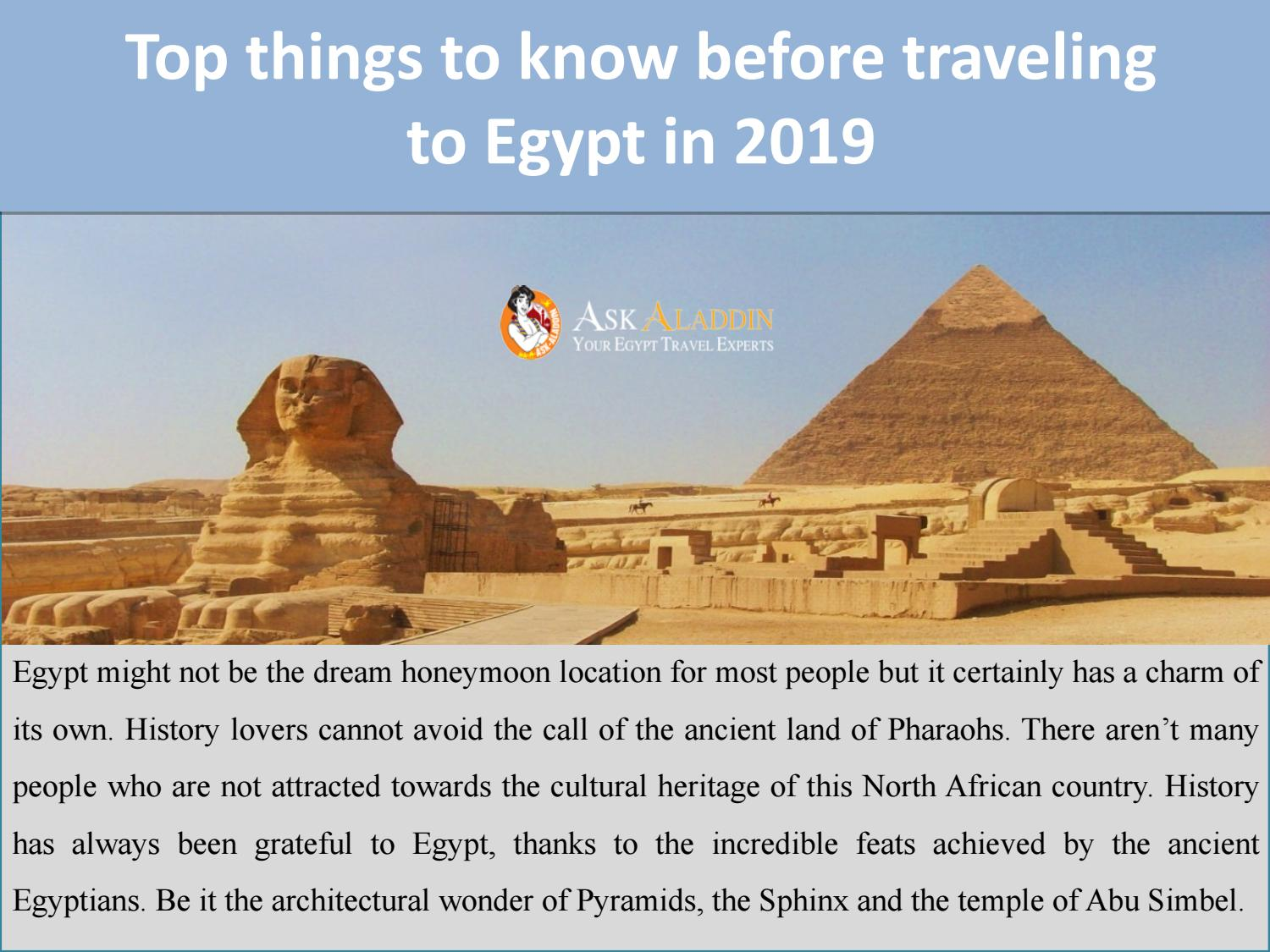 Top things to know before traveling to Egypt in 2019 by Ask