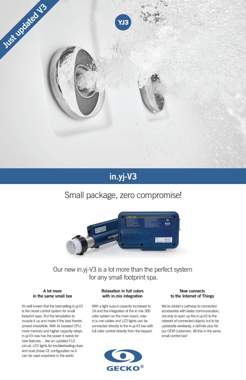 in yj-V3 control system promotional flyer by Gecko Marketing