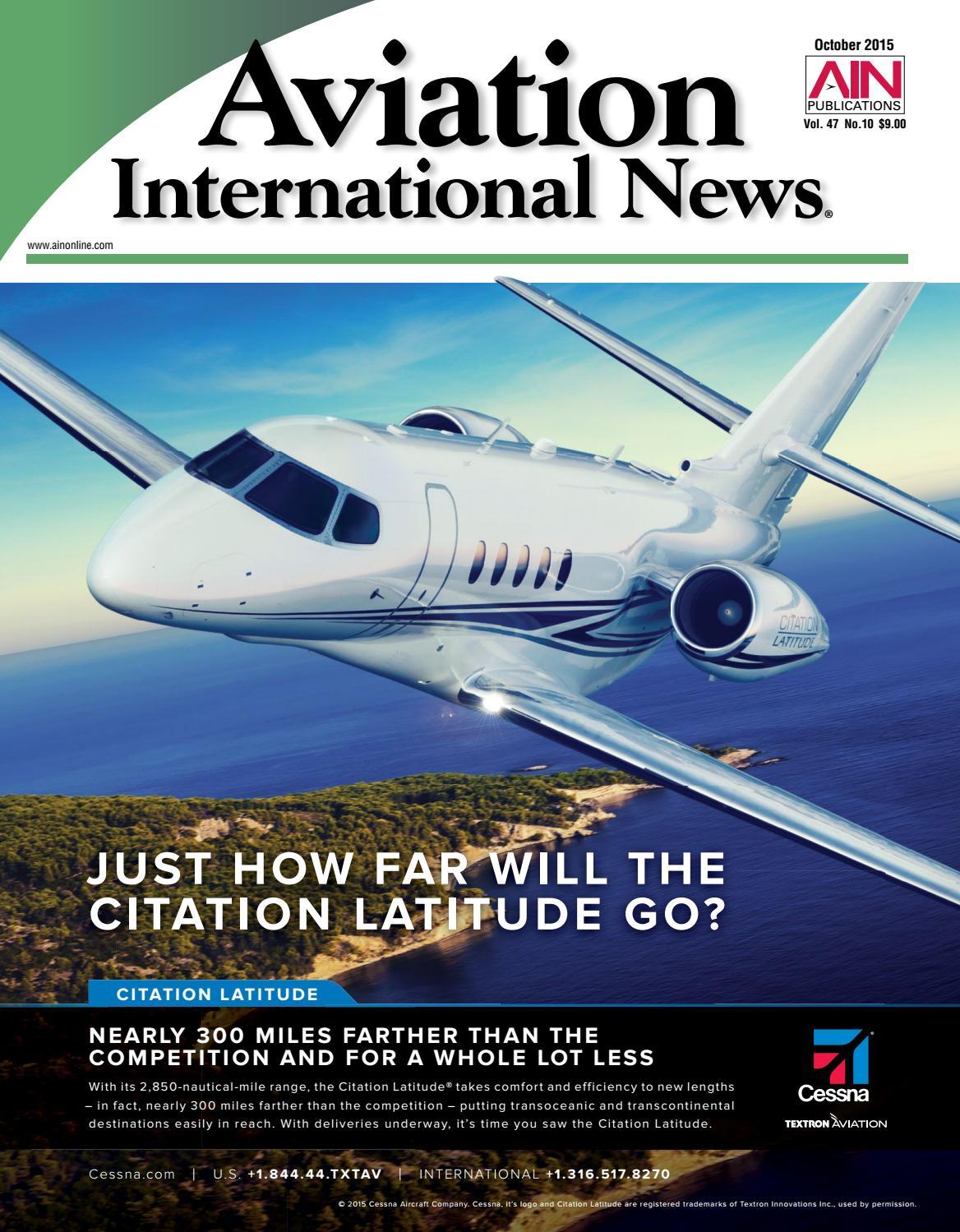 Aviation International News October 2015 by Aviation