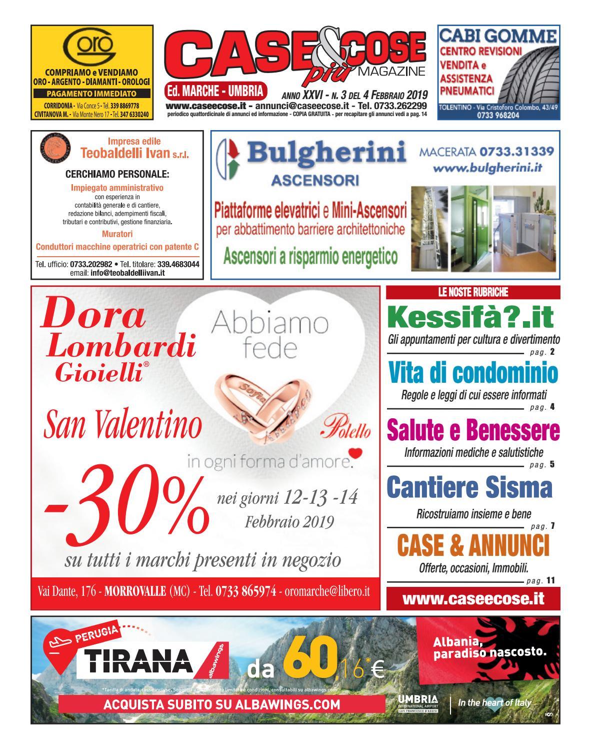 Collezionista Di Scatole Fiammiferi case & cose più n. 3 del 4.02.2019 ed. marche - umbria by