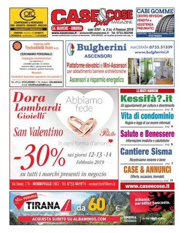 Case   Cose Più n. 3 del 4.02.2019 ed. Marche - Umbria by Case Cose ... 14adf96e328