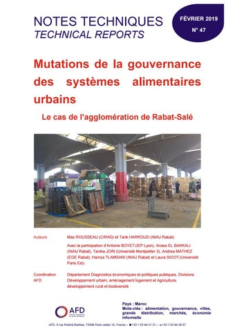 4e6ea196e45 Mutations de la gouvernance des systèmes alimentaires urbains - Le ...