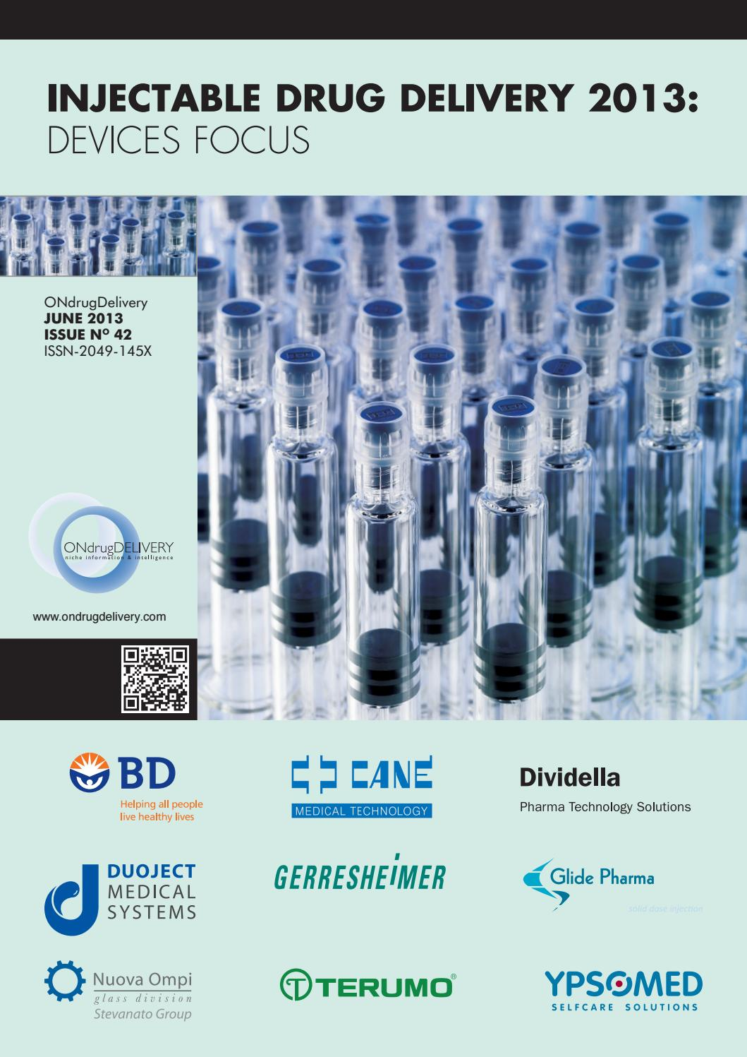 Injectable Drug Delivery: Devices Focus - ONdrugDelivery - Issue 42