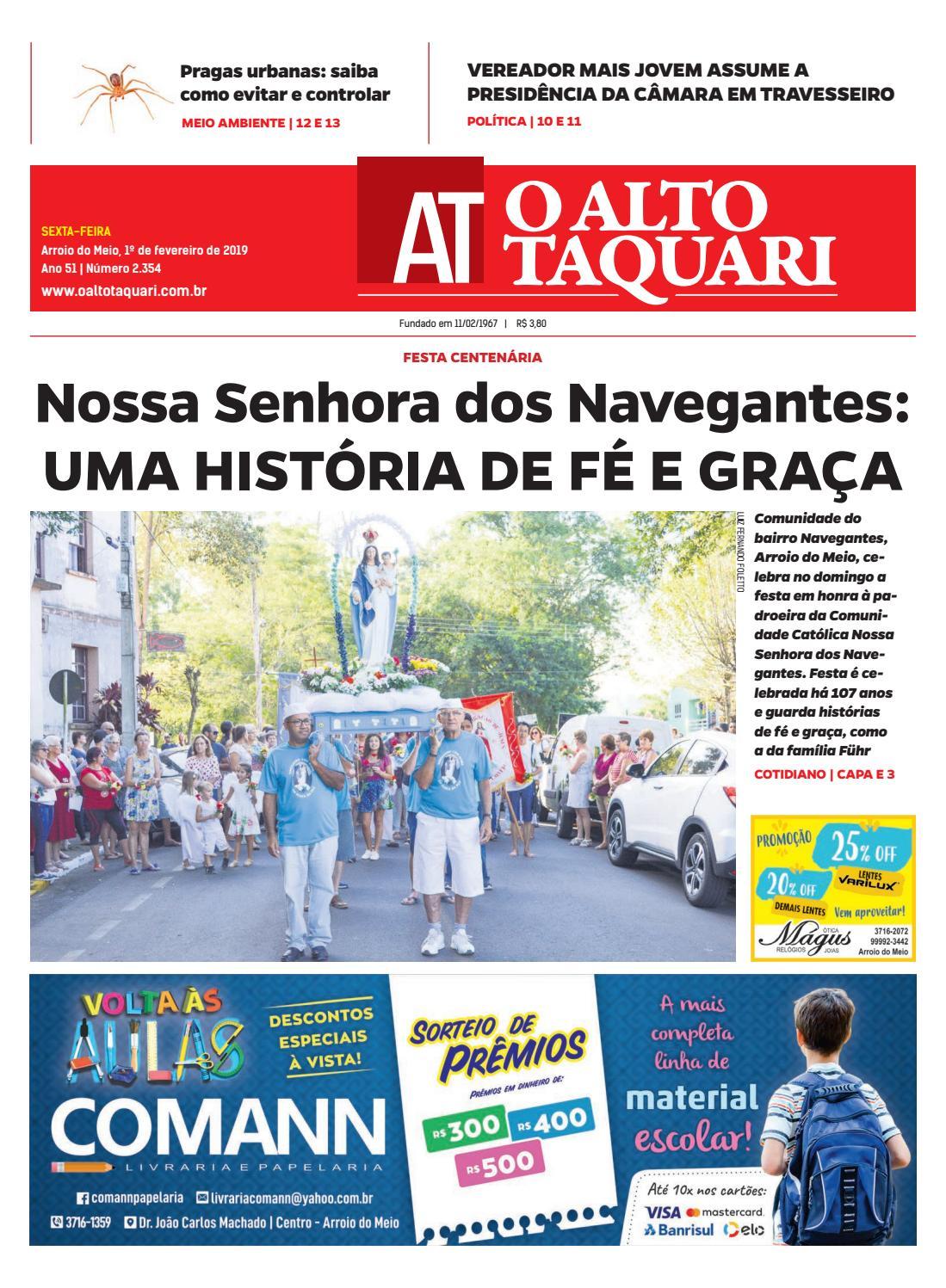 8c75470b39cab Jornal O Alto Taquari - 01 de fevereiro de 2019 by Jornal O Alto Taquari -  issuu