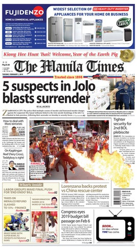 THE MANILA TIMES | FEBRUARY 5, 2019 by The Manila Times - issuu