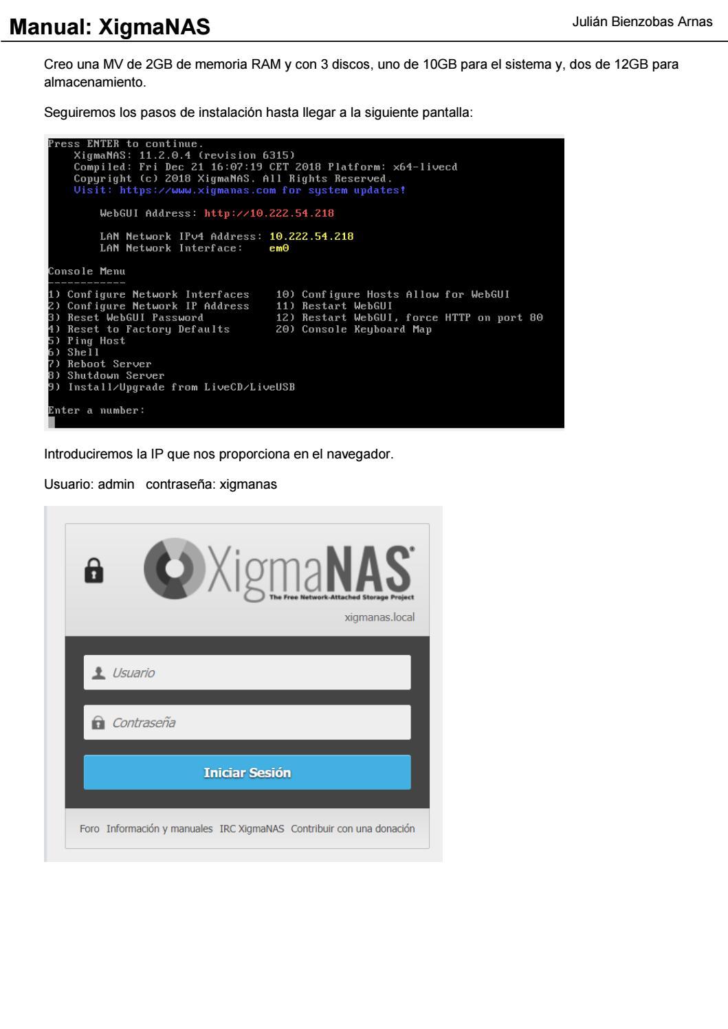 Manual de configuración de XigmaNAS by bienzoj - issuu