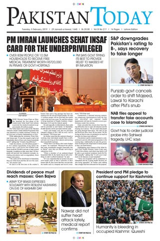 E-Paper PDF 5th February 2019 (LHR) by Pakistan Today - issuu