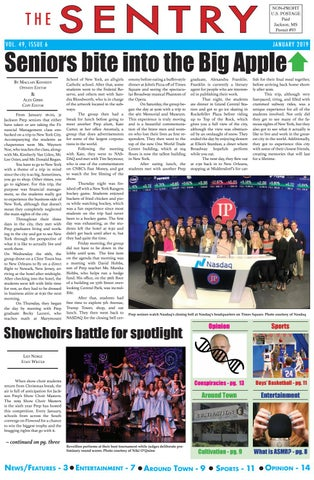 Issue 6 January 2019 by The Sentry, Jackson Preparatory School - issuu