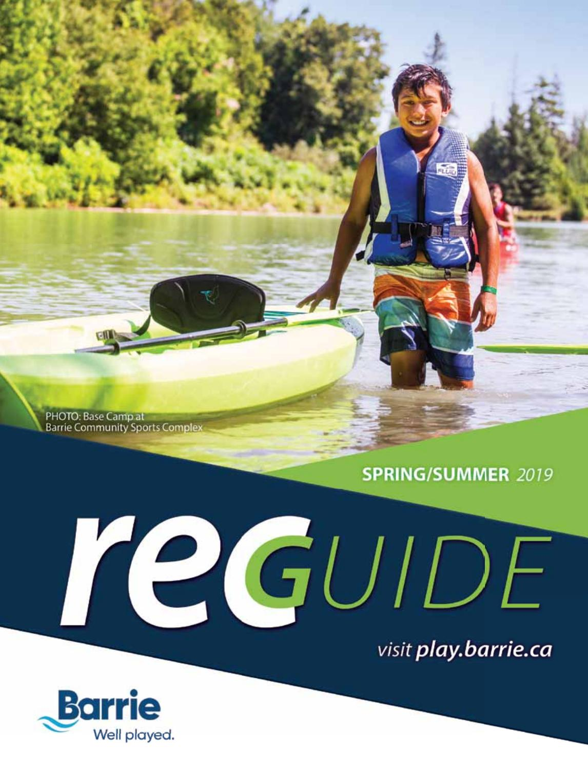 Barrie Parks & Rec Guide Spring/Summer 2019 by GoodLife