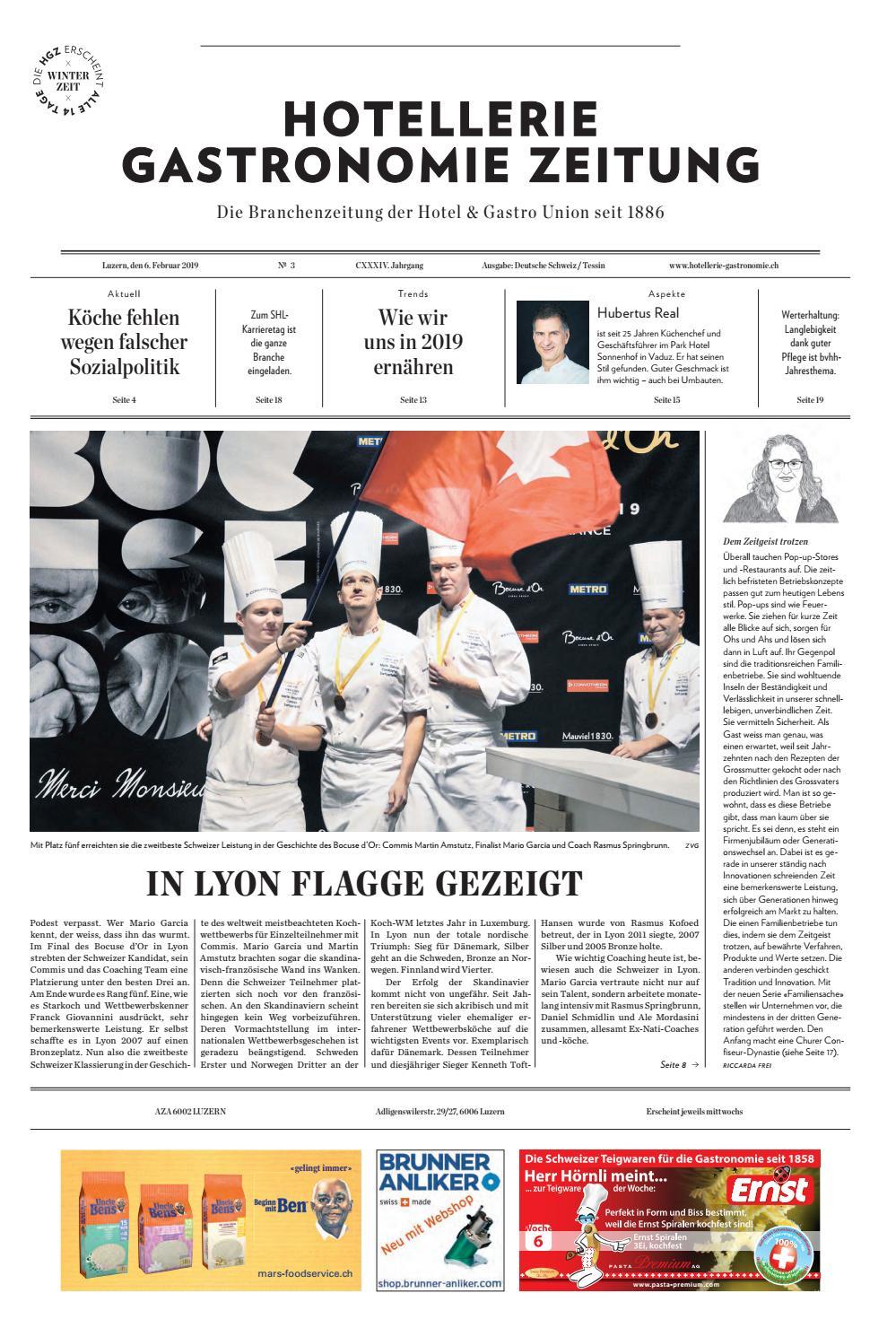 4bfbfc6fe1307a HG-Zeitung 03 2019 by Hotellerie Gastronomie Verlag - issuu