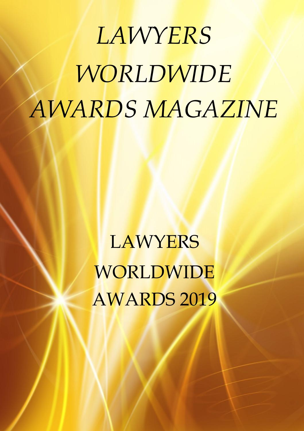Lawyers Worldwide Awards 2019 by Productive Media - issuu