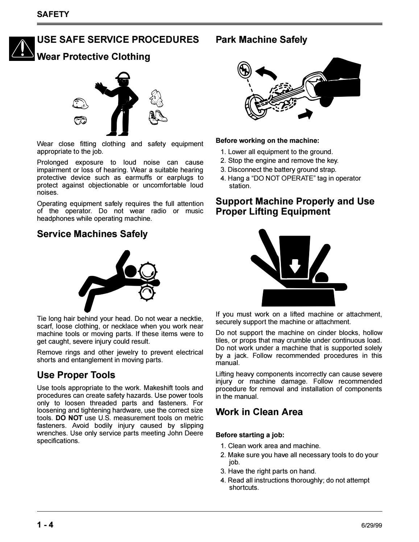 JOHN DEERE SRX95 RIDING MOWER Service Repair Manual by ... on