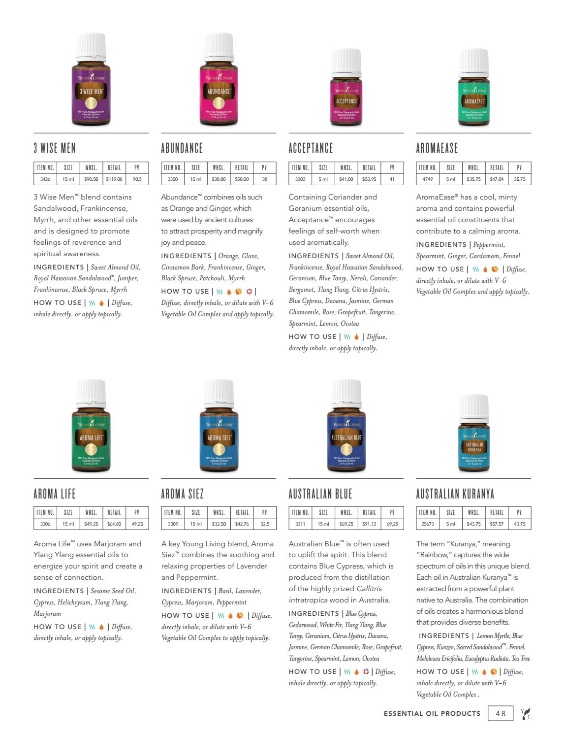 2019 Product Guide - U S  by Young Living Essential Oils - issuu