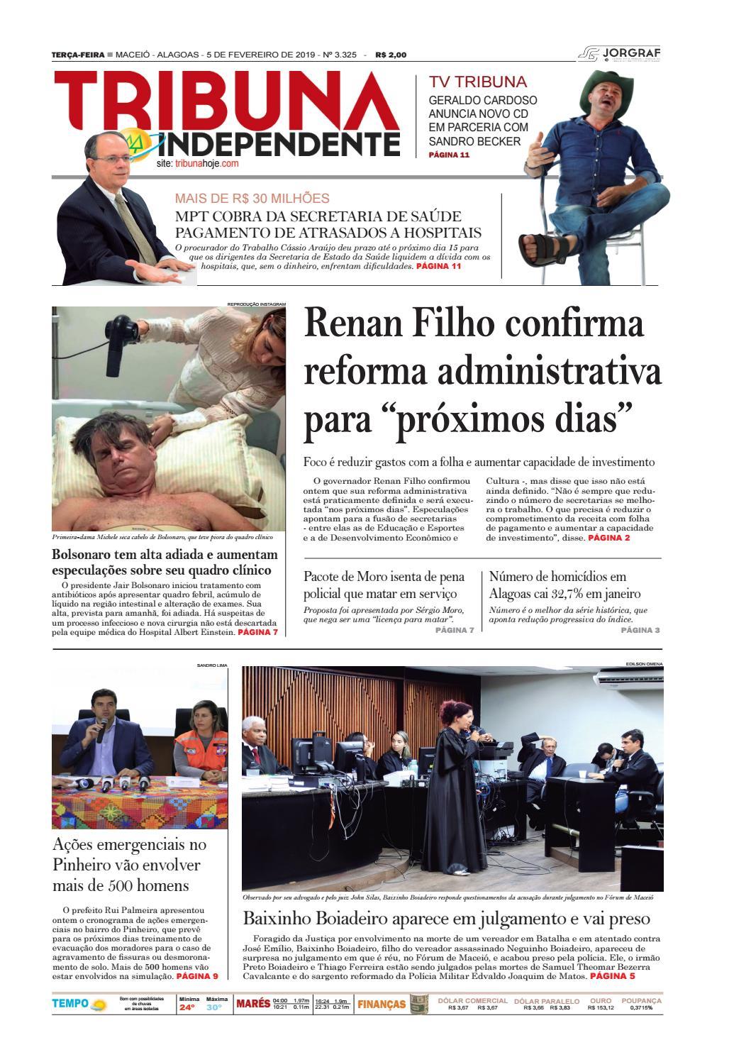 225b2a084 Edição número 3325 - 5 de fevereiro de 2019 by Tribuna Hoje - issuu