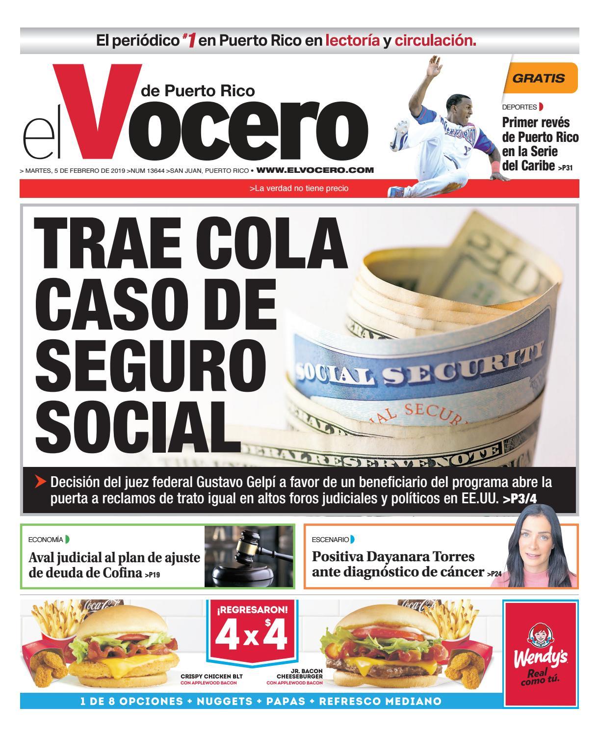 huge selection of 44f58 45bf4 Edición del 5 de febrero de 2019 by El Vocero de Puerto Rico - issuu