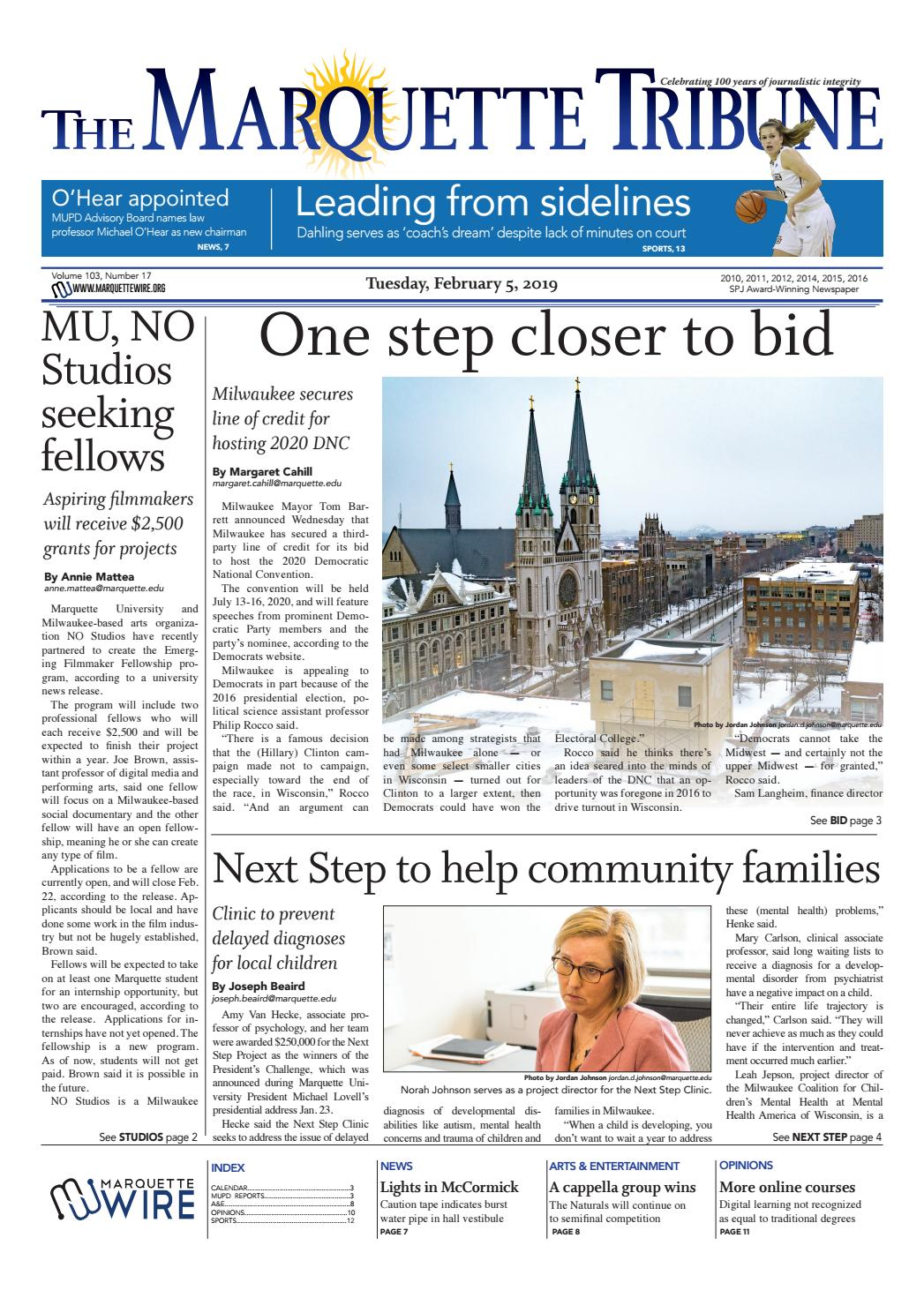 The Marquette Tribune | Tuesday, February 5, 2019 by