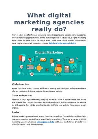 What digital marketing agencies really do? by socioxpert - issuu