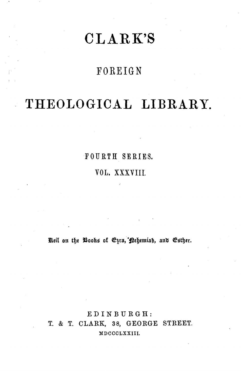 C F  Keil & F  Delitzsch, Biblical Commentary on the Books