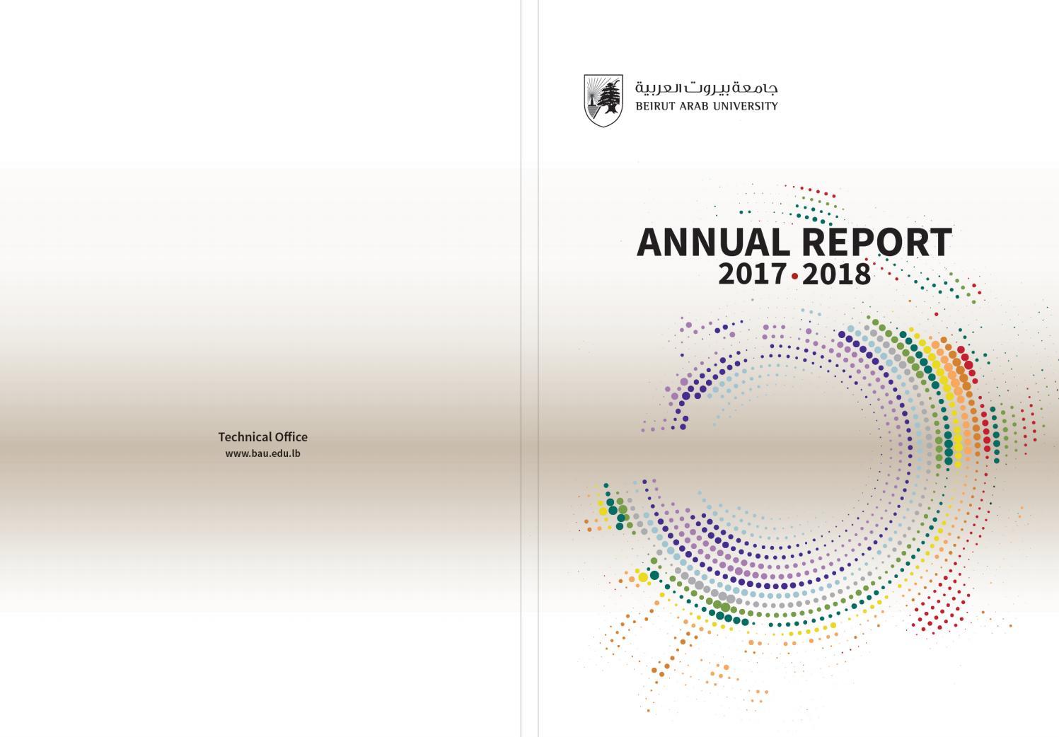 Annual Report (2017-2018) by BAUWebsiteOffice - issuu