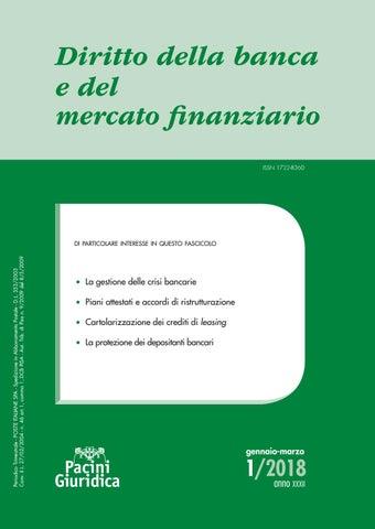 ab110b00fd Diritto della banca e del mercato finanziario 1/2018 by Pacini ...