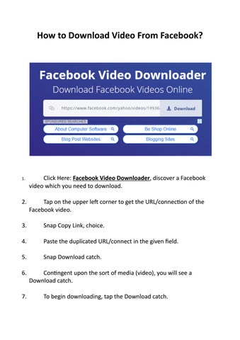 How to Download Video From Facebook? by Facebook Video