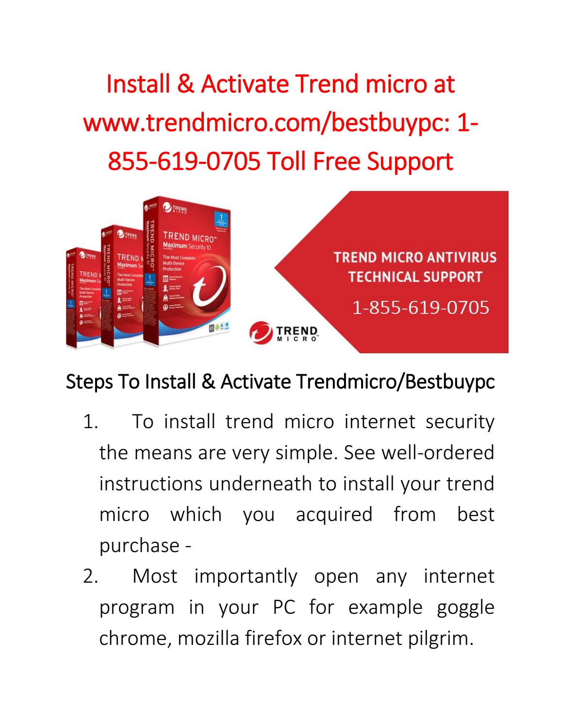 Install & Activate Trend micro at www trendmicro com