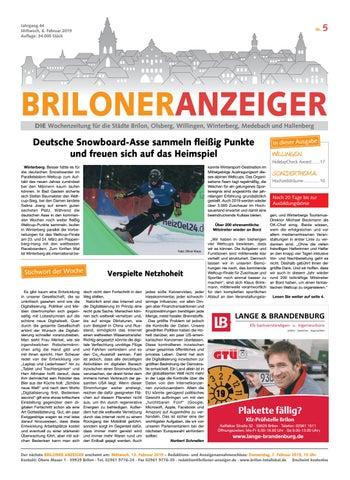 1056e32b96f5fc Briloner Anzeiger Ausgabe vom 06.02.2019 Nr.5 by Brilon-totallokal ...