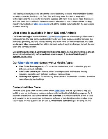 Uber clone script and uber clone app by Apporio Apps - issuu