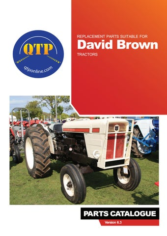 8 david brown by Quality Tractor Parts - issuu
