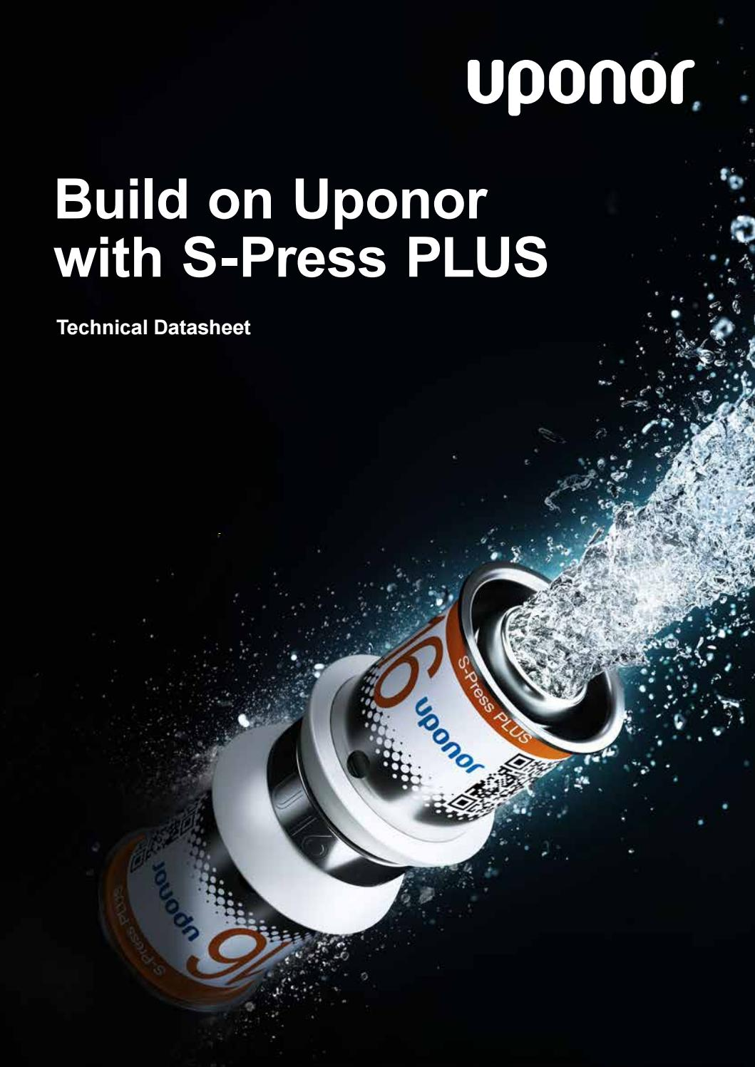 Uponor s press plus technical data sheet by Uponor Germany