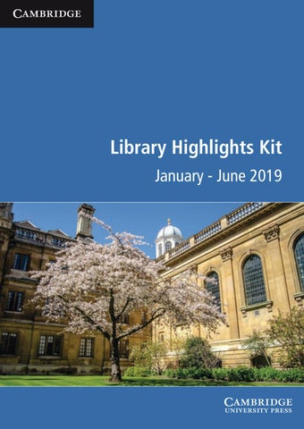 Library highlights kit January - June 2019 by Cambridge